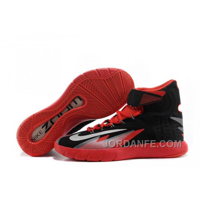 new style 12569 e86e5 USD  85.79  99.18. Nike Zoom Hyperrev KYRIE IRVING Black Metallic Silver-Light  Crimson For Sale Authentic ...