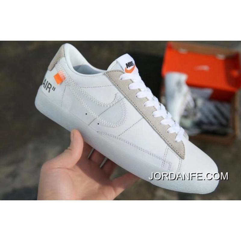 quality design b3400 83ac4 ... 2018 Outlet Nike Blazer Low To Be Off-White X Mid Ow Skateboard Shoes  Black ...