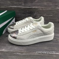 Puma Basket Creeper Blink White For Women Discount