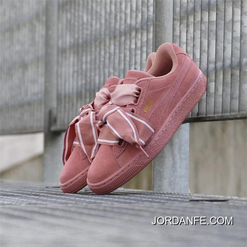 PUMA Suede Heart Satin II 364084-03 ButterFly Pink Authentic 429754ca1