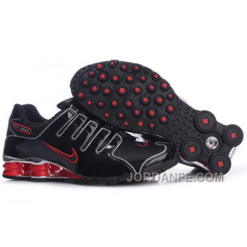 pretty nice b03b9 e8f47 Men's Nike Shox NZ Shoes Black/Red/Silver Cheap To Buy