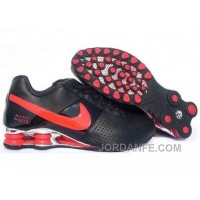 Men's Nike Shox OZ Shoes Black/Red/Silver For Sale