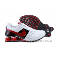 Men's Nike Shox OZ Shoes White/Black/Red New Release