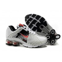 Kid's Nike Shox R4 Shoes White/Black/Red New Release