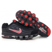 Men's Nike Air Max Shox R4 Shoes Black/Red Authentic