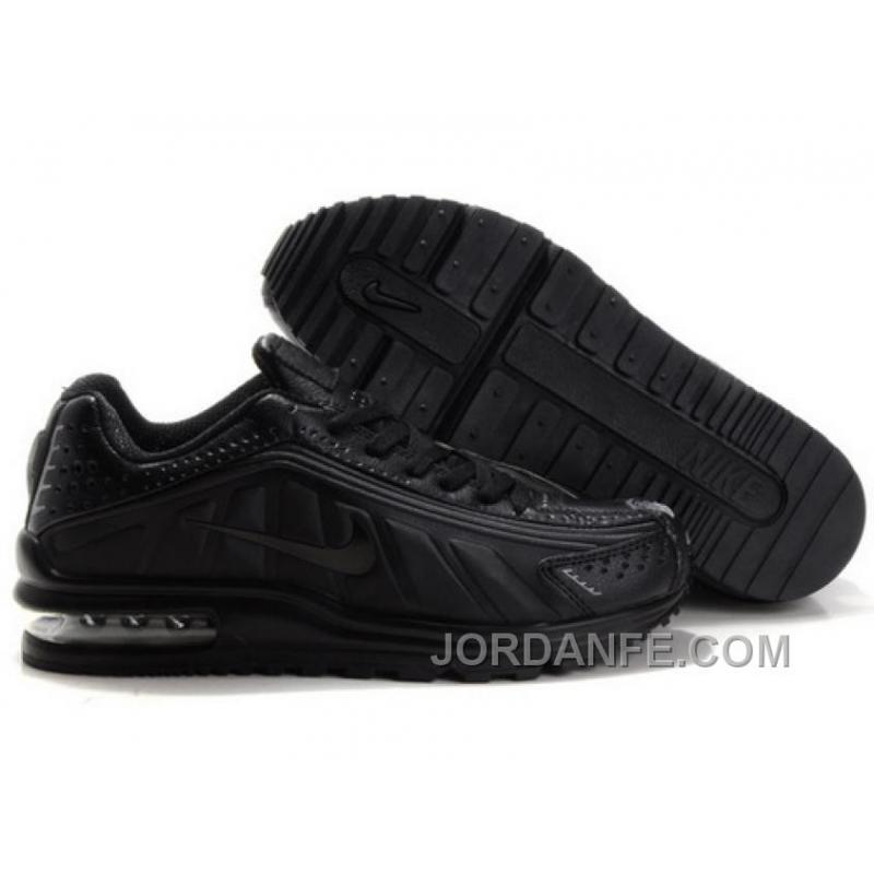 Men's Nike Shox R4 & Air Max LTD Shoes All Black Super ...