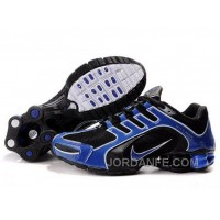Men's Nike Shox R5 Shoes Black/Blue New Release
