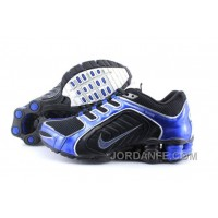 Men's Nike Shox R5 Shoes Black/Dark Blue Top Deals