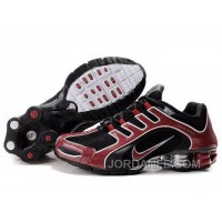 Men's Nike Shox R5 Shoes Black/Dark Red Lastest