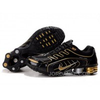 Men's Nike Shox R5 Shoes Black/Gold Lastest
