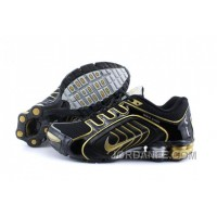 Men's Nike Shox R5 Shoes Black/Golden/Grey Top Deals