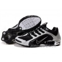Men's Nike Shox R5 Shoes Black/White For Sale 344384