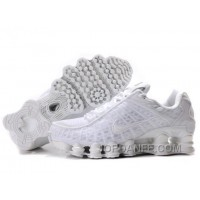 Men's Nike Shox TL Shoes All White For Sale