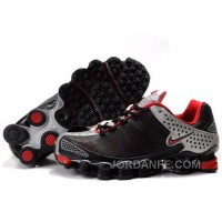 Men's Nike Shox TL Shoes Black/Red/Silver Authentic