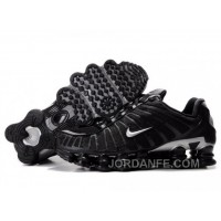 Men's Nike Shox TL Shoes Black/Silver For Sale