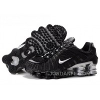 Men's Nike Shox TL Shoes Black/White/Silver Authentic