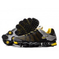 Men's Nike Shox TL Shoes Black/Yellow/Silver Online