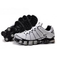 Men's Nike Shox TL Shoes White/Black/Grey New Release