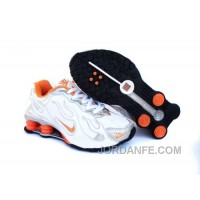 Kid's Nike Shox Torch Shoes White/Grey/Orange Authentic