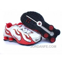 Kid's Nike Shox Torch Shoes White/Gym Red/Grey Super Deals