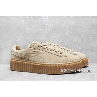 2018 Super Deals Rihanna By Puma X Fenty Creeper Shoes 35 5 40 Wheat Color Bottom Thick Sponge Cake