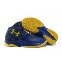 """Under Armour Curry 2 """"Dub Nation"""" Blue Yellow Shoes For Sale"""