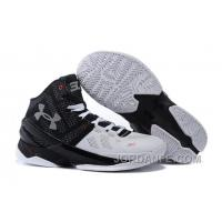 """Under Armour Curry 2 """"Suit & Tie"""" Black White Red Shoes For Sale Online"""