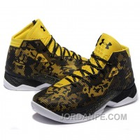 Under Armour Stephen Curry 2.5 Black Yellow Basketball Shoes New Release