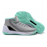 Under Armour Stephen Curry 3 Shoes Grey White Green New Arrival