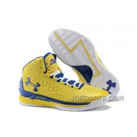 Under Armour UA Curry One (1) Playoff PE Yellow/Royal Blue New Release
