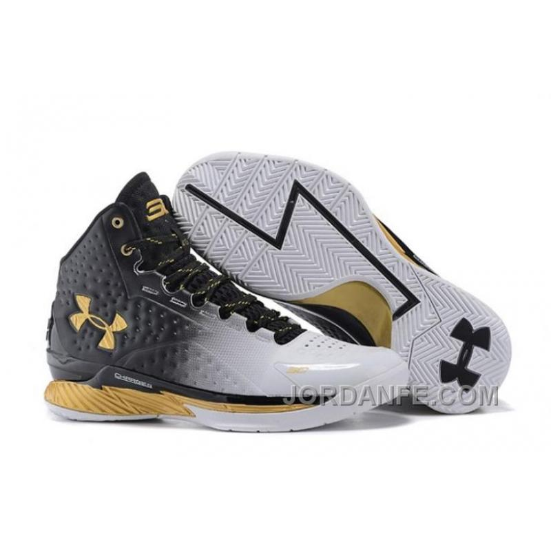 eca00f9b3723 Under Armour UA Curry One (1) MVP White Black-Gold Xmas Deals