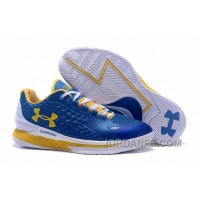 Womens Under Armour Curry One Low Royal Blue Yellow White Xmas Deals