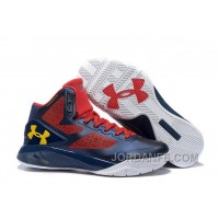Under Armour ClutchFit Drive 2 Men Basketball Shoes Deep Blue Red Yellow Cheap To Buy