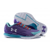 Under Armour Curry 1 Low Purple Blue Red Sneaker For Sale