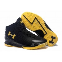 Under Armour Curry One Black Championship Sneaker Lastest