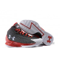 Under Armour Curry One Custom Gray White Red Sneaker New Release