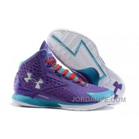 Under Armour Curry One Kids Purple Month Sneaker For Sale