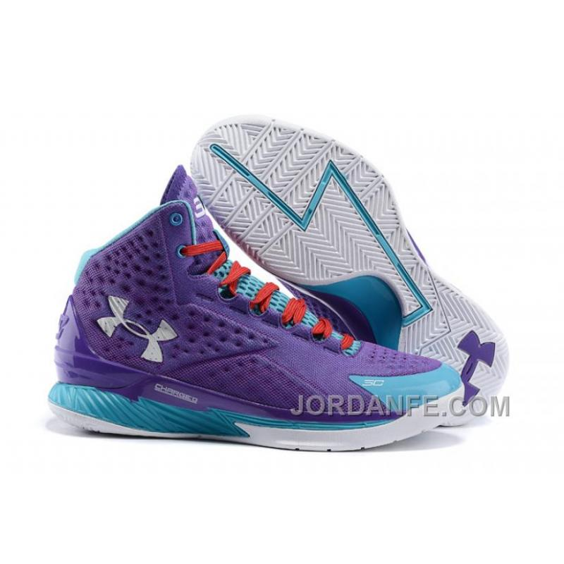 Under Armour Curry One Kids Purple Month Sneaker For Sale ... ab4110583