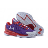Under Armour Curry One Low Custom Purple Red Sneaker Cheap To Buy