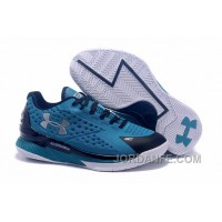 Under Armour Curry One Low Kids Shoes Cyan Black Sneaker New Release