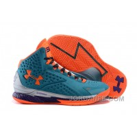 Under Armour Curry One Women Orange Blue Sneaker Discount