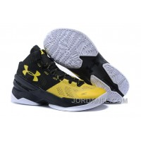 Under Armour Curry 2 Kid Shoe Black Yellow Sneaker For Sale