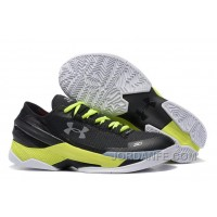Under Armour Curry 2 Low Custom Black White Yellow Sneaker Authentic