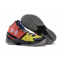 Under Armour Curry Two Orange Multicolor Sneaker Authentic