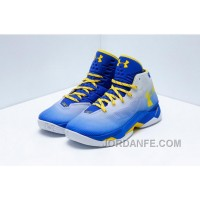 Under Armour Curry 2.5 Men Basketball Shoes Blue Gray Yellow Lastest