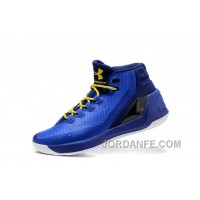 2016 Under Armour Curry Three Royal Blue New Mens Shoes Top Deals