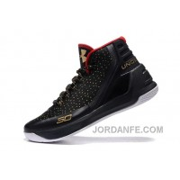 Under Armour Curry Three Black Red Gold Cheap New Mens Shoes Top Deals
