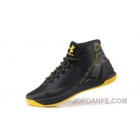 Under Armour Curry Three Black Yellow Mens Shoes Cheap To Buy