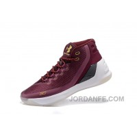 Buy Under Armour Curry Three Dark Red New Mens Shoes Super Deals