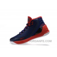 Outlet Under Armour Curry Three Red Dark Blue Sale New Mens Shoes Discount